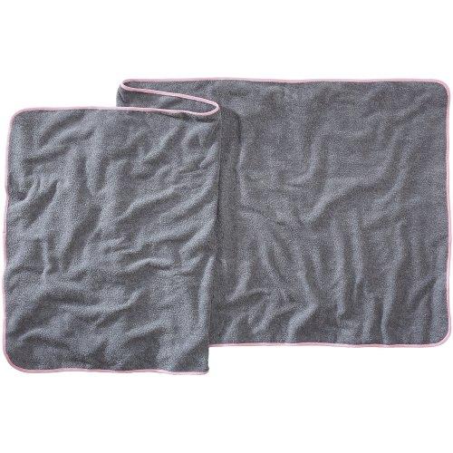 Sowel XXL Beach Towel, Sauna Towel, 100% Cotton, Size 32 x 87 inches, Grey Pink