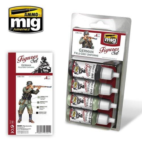 Ammo by Mig Figures Set - German Field Grey Uniforms