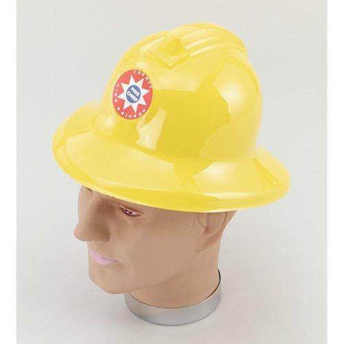 Yellow Plastic Fireman Helmet