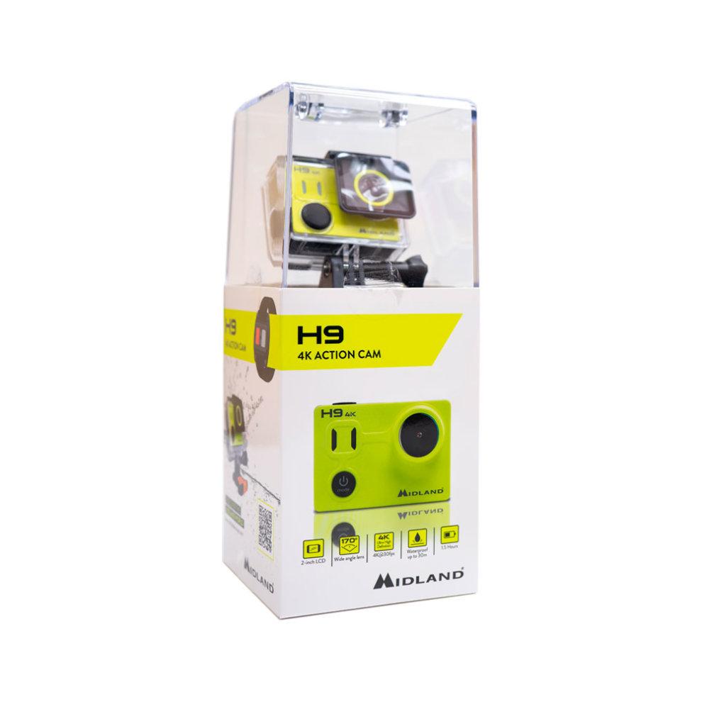 Midland H9 Action Camera Video Camera ULTRA HD 4K Code C1405