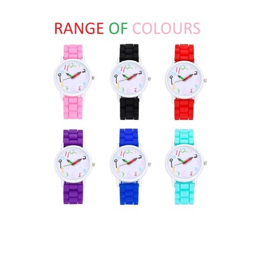 First Kids Childrens Boys Watch Crayon Paint Colour Pencil Tell Time
