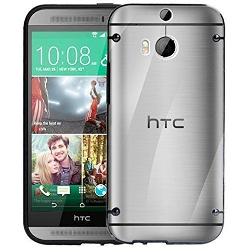 HTC One-2 M8 Phone Bumper Case Cover Black Silicone Edges with Hard Clear  Back+Free 2 Screen Protectors on OnBuy b6a977b76434