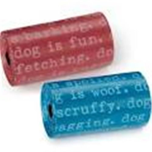 Dog Is Good DI2771 08 28 Dogism Waste Bag 8Pk Blu