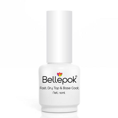 Bellepok Fast Dry Top & Base Coat | Non-Toxic Top & Base Nail Polish