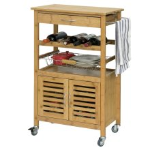 SoBuy® FKW53-N, Bamboo Kitchen Storage Trolley Kitchen Cabinet