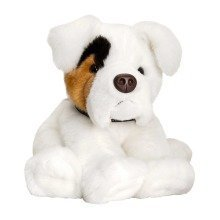 Keel White Boxer Dog Soft Toy 35cm