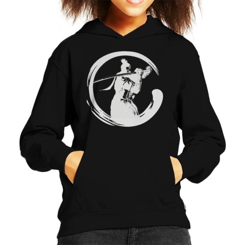 Sekiro Shadows Die Twice Shinobi Enso Light Kid's Hooded Sweatshirt