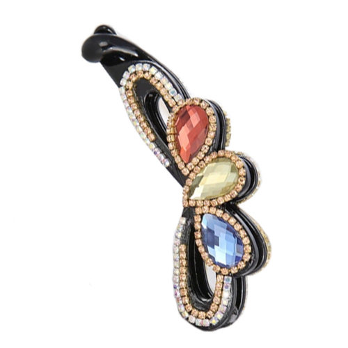 Women's Fashion Diamond Vertical Claw Clip Hair Clips Hair Comb Clips, A