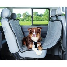 Trixie 1313 Protective Car Blanket, 1.45 × 1.60 M, Light Grey/ Black - 145 160 -  car trixie 145 160 m protective 1313 blanket light grey black cover