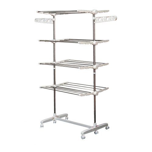 Homcom 4-Tier Clothes Drying Rack | Indoor & Outdoor Folding Airer