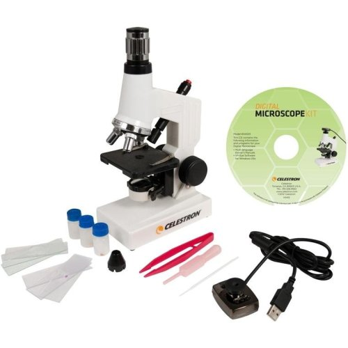 Celestron Digital Microscope Science Kit With Powers From 40x To 600x Includes Accessories