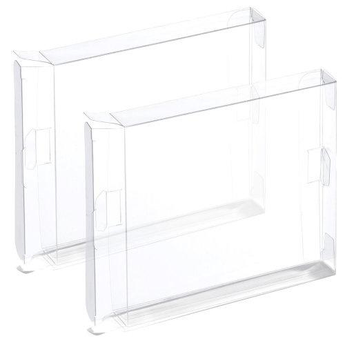 Display case for NES Nintendo plastic box games ZedLabz - 2 pack clear