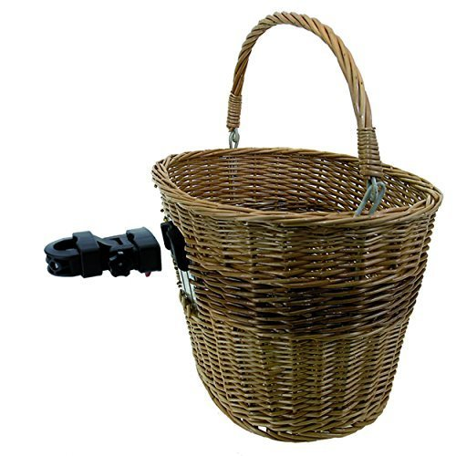 M Wave Wicker Bicycle Basket With Clip On Bracket