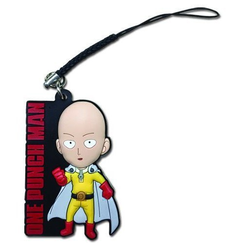 Cell Phone Charm - One-Punch Man - SD Saitama ge17468