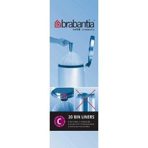 12l White Pack Of 20 Bin Liners - Brabantia Bags C Litre Size 20l 30l 50l -  brabantia bin bags c liners litre 12l size 20 20l 30l 50l genuine type
