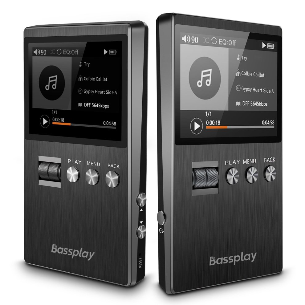 Hifi MP3 Player, Digital Audio Player - Bassplay P5000 Mini Chip on  Lossless Music Player, DSD FLAC APE MP3 Player with Card Slot, Expandable  to