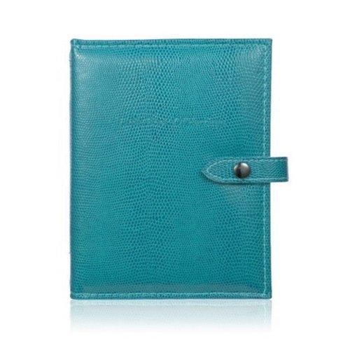Little Book of Earrings - Mock Crocodile Blue