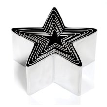 Star Cutters, 8 Piece Set, Stainless Steel, For Cookies, Cake Decoration And
