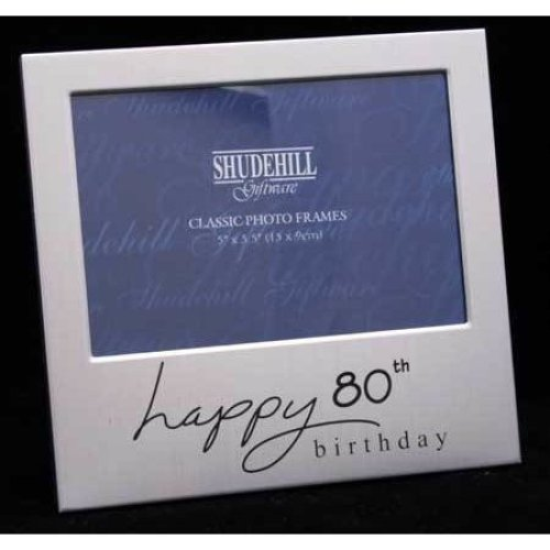 Happy 80th Birthday 5 x 3 photo Frame by Shudehill giftware