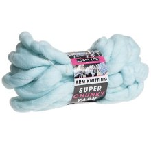 Pms Light Blue Super Chunky Arm Knitting 12. 5mtr Hank -  giant chunky extreme arm knitting yarn thick coloured craft super loop 125m