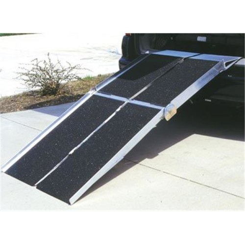 8-ft x 30-in Portable Multifold Reach Wheelchair Ramp 800 lb. Weight Capacity  Maximum 16-in Rise