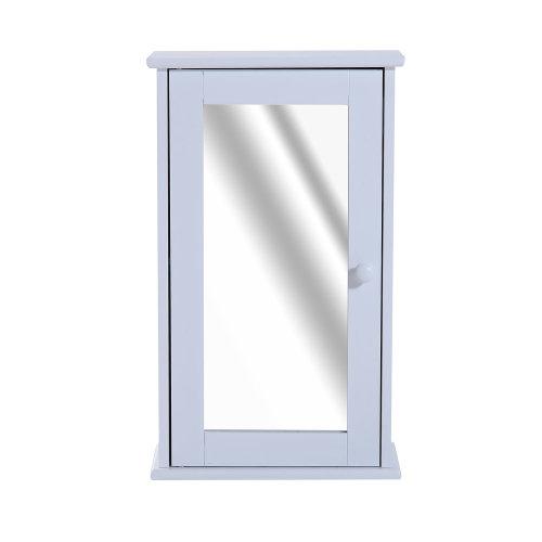 Homcom 50cm Wall Mount Mirrored Cabinet Bathroom Storage w/ Glass Door