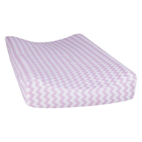 Trend Lab 101750 Orchid Bloom Chevron Changing Pad Cover - Purple & White