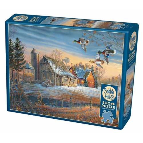 CBL85048 - Cobblehill Puzzles 500 pc - Farmstead Flyby