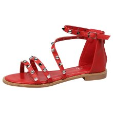 Melinda Womens Flat Studded Gladiator Sandals