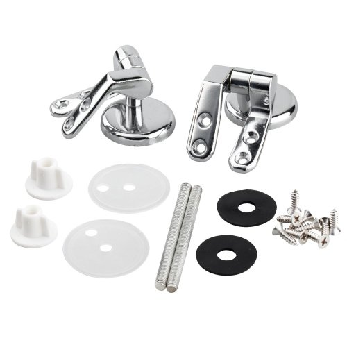 Trixes 2 x Chrome Finish Toilet Seat Hinges