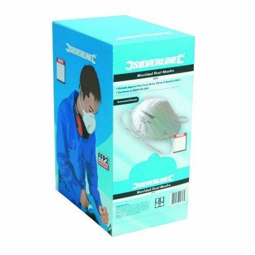 Silverline Moulded Face Mask Ffp1 Nr Display Box 20pk Ffp1 Nr - Respirator Dust -  ffp1 moulded nr mask respirator dust silverline safety box 868826