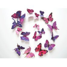 12pc Magnetic Butterfly Decorations | 3D Butterfly Wall Stickers