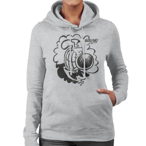 Grimmy Tuxedo Grin Women's Hooded Sweatshirt