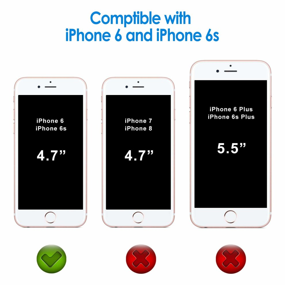 264fdab7df ... JETech Case for Apple iPhone 6 and iPhone 6s, Shock-Absorption Bumper  Cover, ...