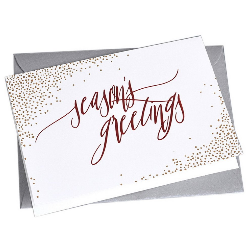 10 Creative Holidays Greeting Cards White And Small Dots On Onbuy