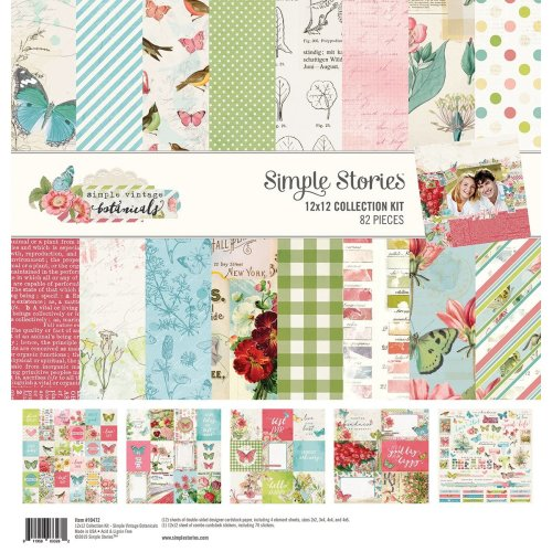 "Simple Stories Collection Kit 12""X12""-Simple Vintage Botanicals"