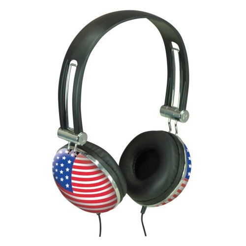 Flag Design Stereo Headphone - Flag Stars and Stripes