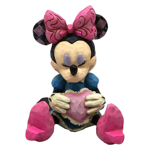 Official Disney Traditions Minnie Mouse Heart Mini Figurine