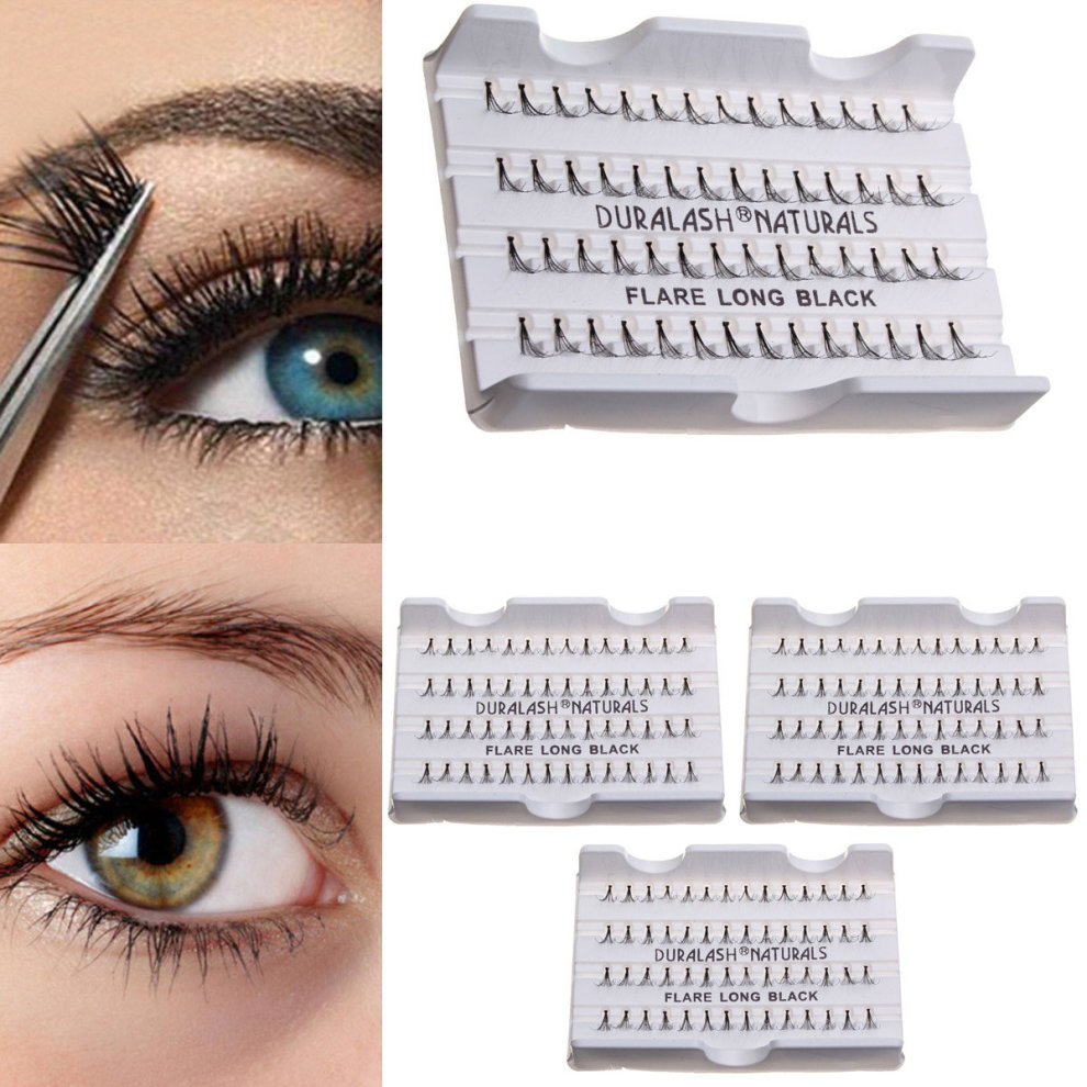 81012mm Cluster Individual Black False Eyelashes Flare Lash Lashes