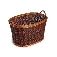 Oval Unpeeled Wicker Log Basket
