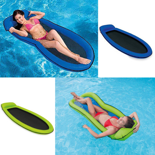 Intex Unisex Inflatable Pool Mesh Lounger 1.78 m x 94 cm