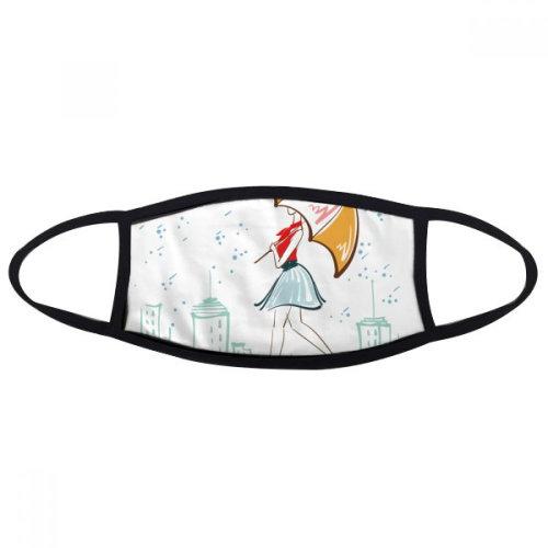 Umbrella Rain Lady City Dress Mouth Face Anti-dust Mask Anti Cold Warm Washable Cotton Gift