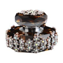 Car Perfume Crystal Car Air Freshener Perfume Bottle for Car Creative [Brown-4]