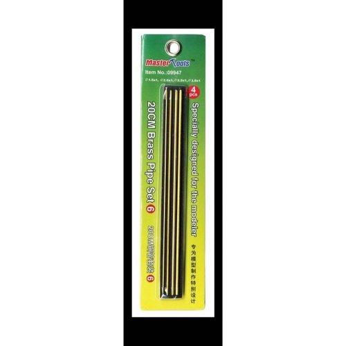 Tru09947 - Trumpeter Tools - 20cm Brass P Ipe Set 6 - 1.5, 2.0, 2.5, 3.0