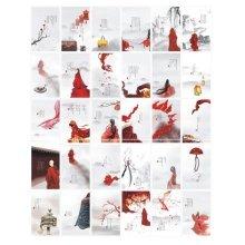 30PCS 1 Set Creative Postcards Artistic Beautiful Postcards, No Live up to It