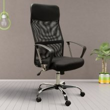 Homcom High Back Mesh Chair (black)