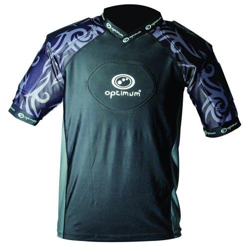 Optimum Razor Kids Rugby Body Protection Shoulder Pads Black/Silver