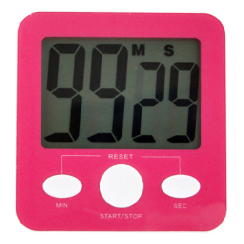 Quadrate Utility Functional Electronic Digital Timer Kitchen Timer, Red