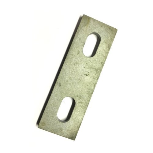 Slotted backing plate for M10 U-bolt (76 - 92 mm ID) Galvanised Mild Steel