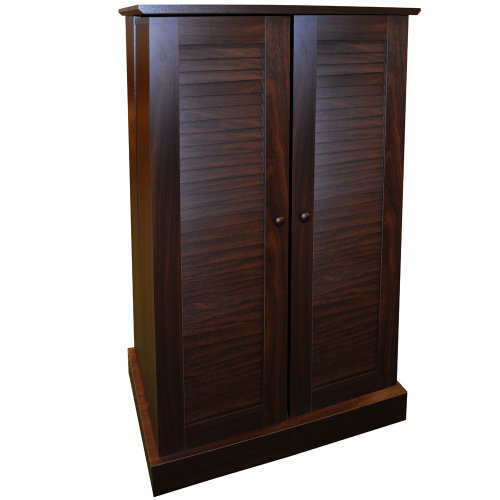 VICTORIA - 600 CD / 250 DVD / Blu-ray Multimedia Storage Cabinet - WALNUT